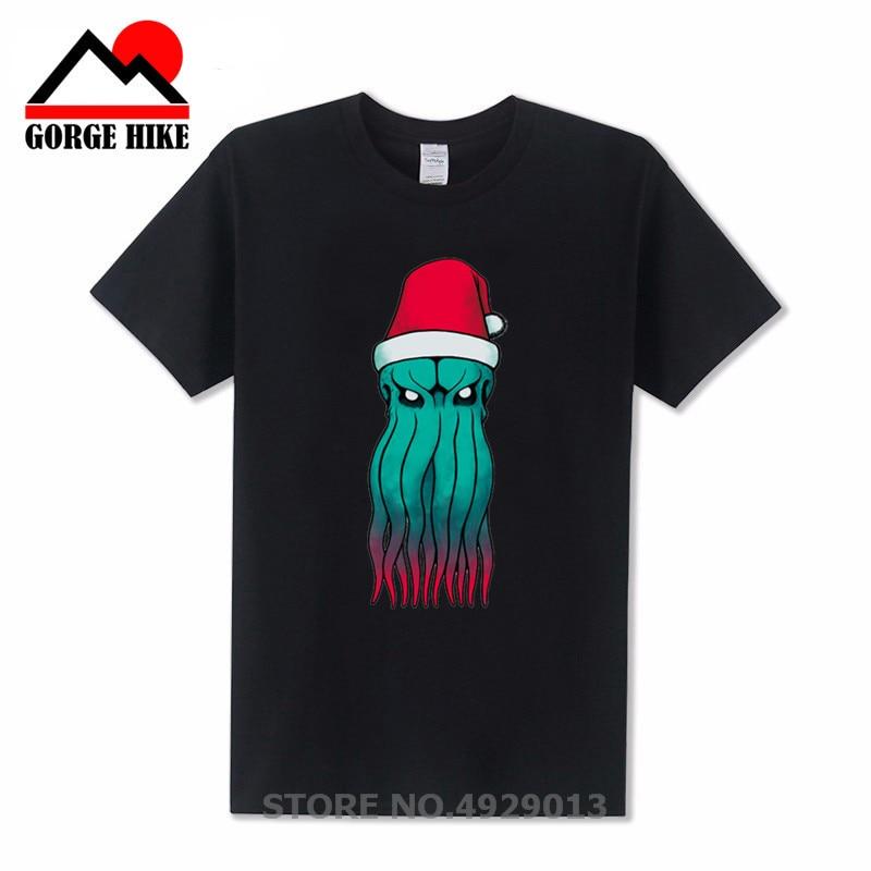 Camiseta de la criatura milagrosa Cthulhu, camisetas para hombres, camiseta de gato o monstruo, camiseta de Calavera, camisetas de dibujos animados para hombres, ropa divertida, camiseta negra