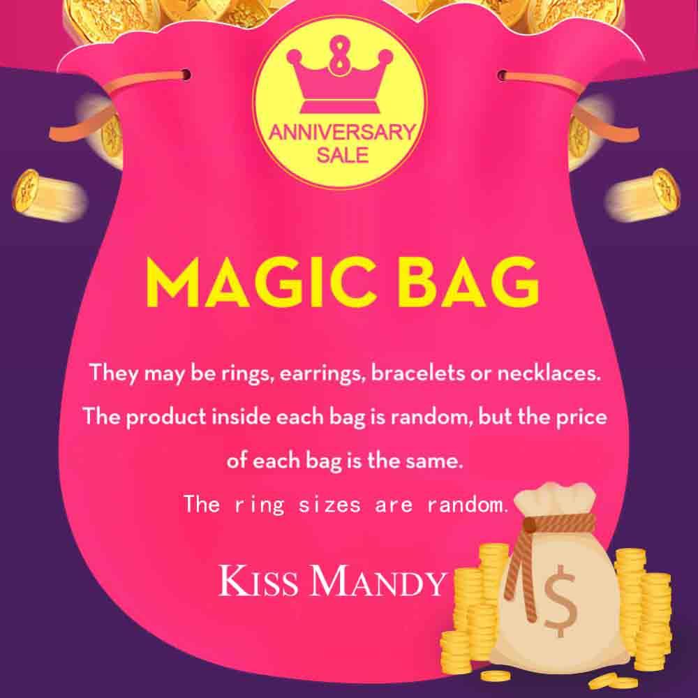 Bolsa mágica Kiss mandía Luck con 1 producto en el interior. El producto dentro de cada bolsa es aleatorio,