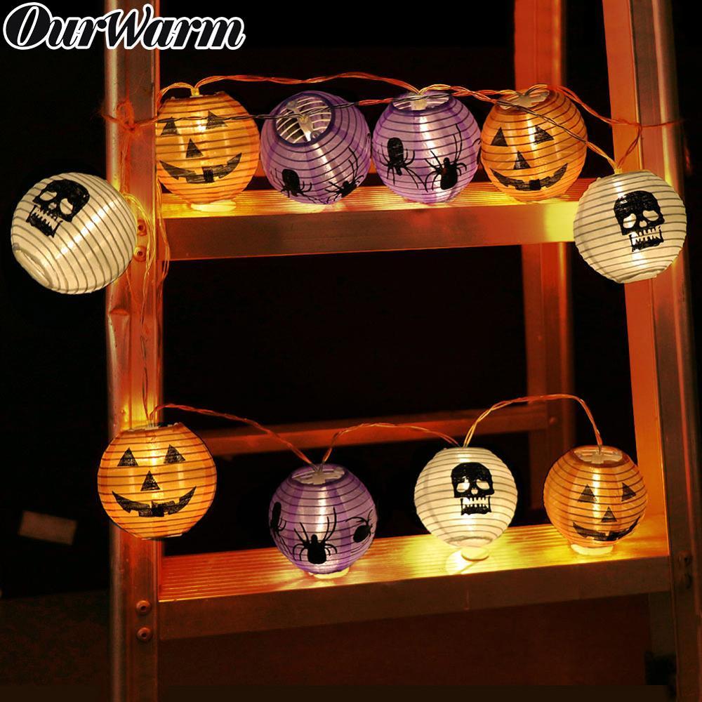 Luces de Halloween OurWarm, luces de cadena LED de calabaza, luces de Halloween para exteriores, para Patio, jardín, fiestas, decoración de Halloween