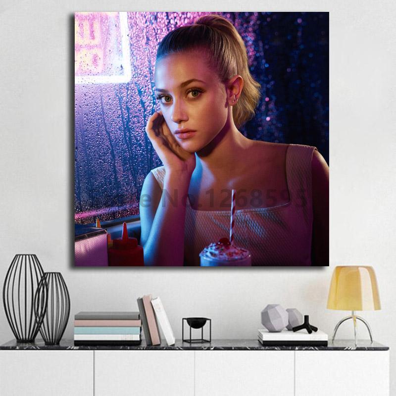 Lili renhart como Betty Cooper en Riverdale, papel tapiz de arte, lienzo, póster, pintura de pared, impresión de imagen para la decoración del dormitorio del hogar