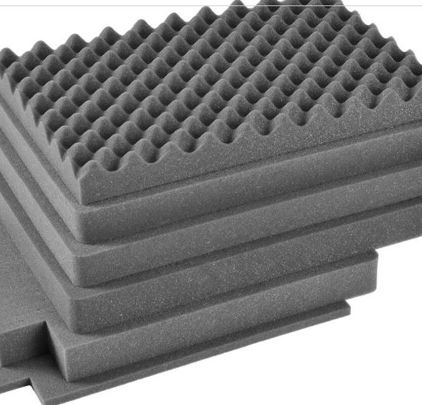 508*356*254mm easy cutting pick pluck foam for 2620,without hard plastic case