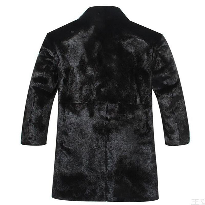 new Men Winter Coats 2018 New Fashion Faux Fox Fur Men's velvet coat fur coat winter Long Outwears Thick Plus Size Fur Overcoats