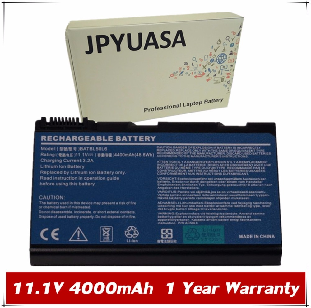 7XINbox, batería para ordenador portátil, BATBL50L6 para Acer Aspire 3100, 3103, 3690,...