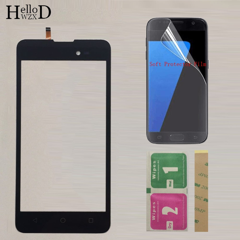 Phone Touch Screen Panel For BQ BQ-5035 Velvet BQ 5035 BQS 5035 Touch Screen Digitizer Panel Front Glass Sensor +Protector Film недорого