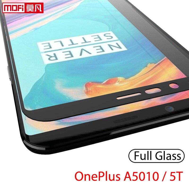 Protector de pantalla para oneplus 5t vidrio templado película 2.5d Mofi ultra delgado 9H cubierta completa original oneplus A5010 oneplus 5T vidrio