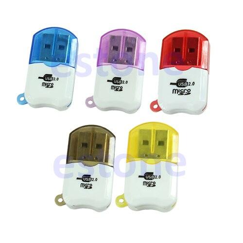 Nuevo Mini Delgado pequeño USB 2,0 profesional Micro SD TF T-Flash lector de tarjetas escritor