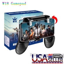 2pcs W18 Smart Phone Gaming Trigger for PUBG Mobile Gamepad Fire Button Aim Key Shooter Handle Grip
