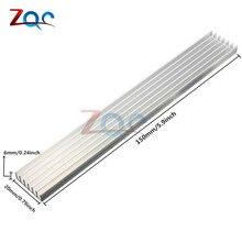 Silver-White Heat Sink LED 150x20x6mm Heat Sink Aluminum Cooling Fin 150x20x6 150*20*6