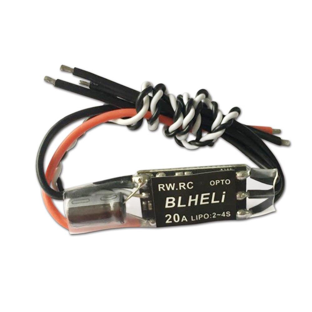 1 Uds 20A CES dispositivos optoelectrónicos Mini 20 AMP BLHeli Pwm 2-4s Fpv V14.2 para Rc Quadcopter QAV250