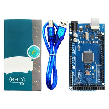 Placa Mega 2560 R3 con Cable USB, Chip ATMega 2560 ATMega16U2 para controlador integrado Arduino con caja de venta