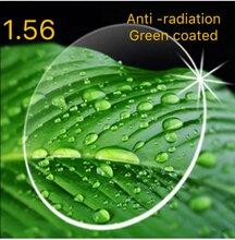 BAUS Ralferty 1,56 Anti Strahlung Anti blue ray Schutz Optic Objektiv Dünne Asphärische HMC Rezept Objektiv Myopie Gläser