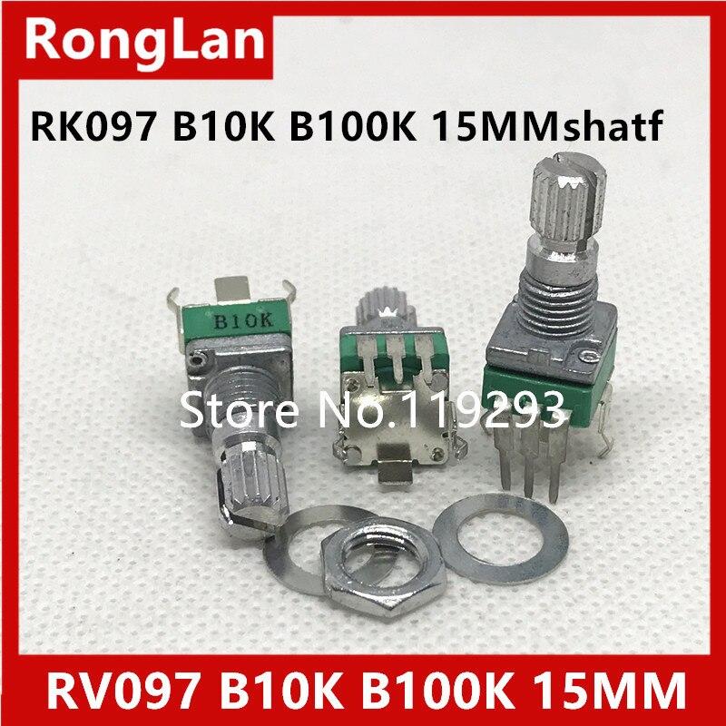 Shelf units aristocratic precision adjustable potentiometer RK097 RK097N Vertical clubfoot single joint B10K B50K B100K 15MM-10P