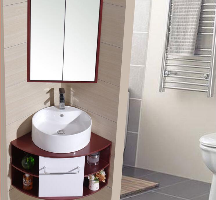 Canto do banheiro. 90 graus de canto banho arca de ângulo direito lavagem rosto bacia para lavar as mãos