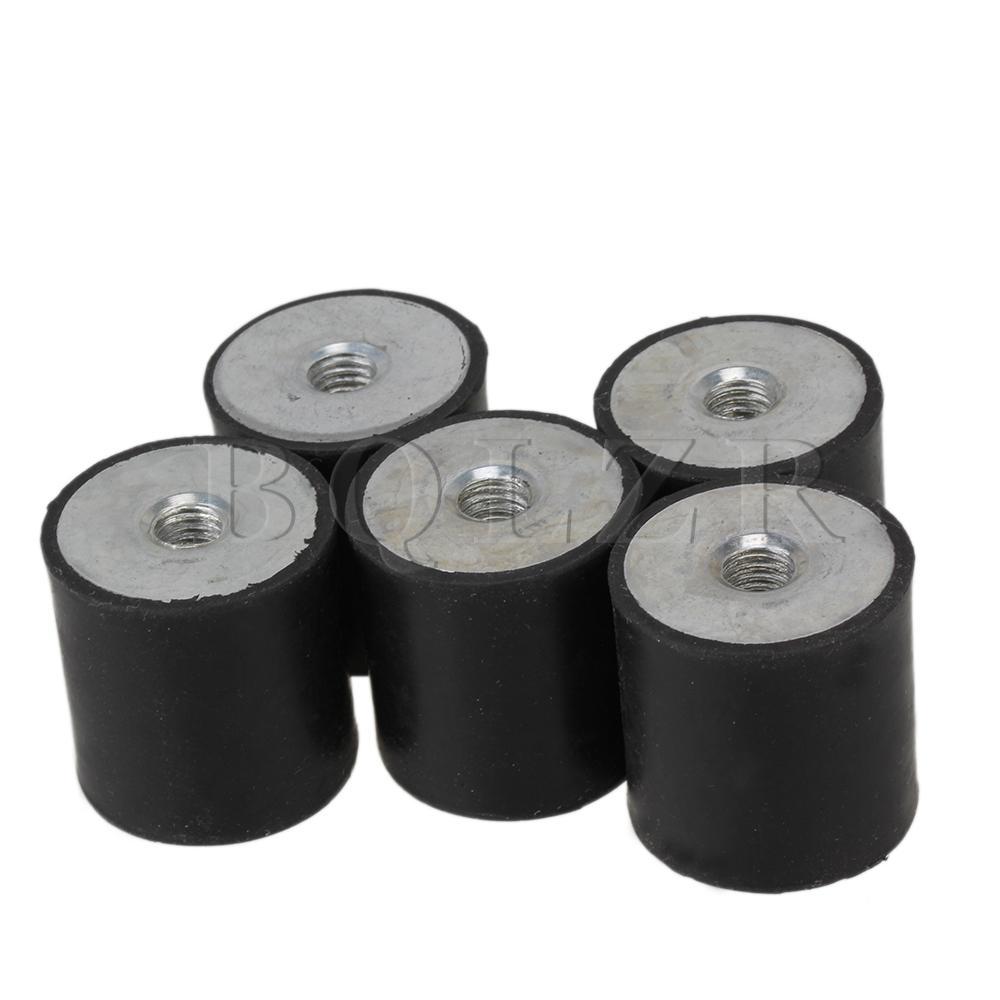 BQLZR 5 pcs 3x3 cm M8 Preto Anti Isoladores de Vibração De Borracha