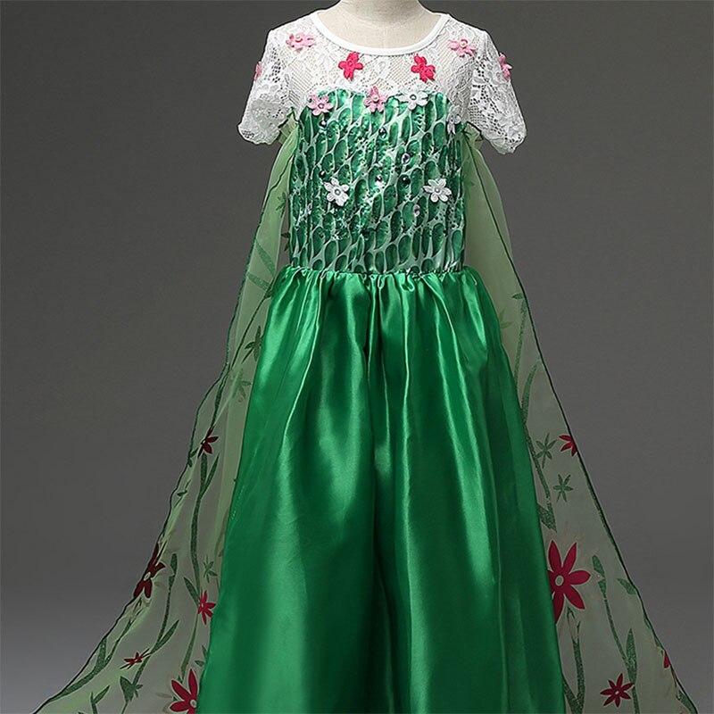 Vestido de princesa para niñas, Cosplay, disfraces de nieve para niños, princesa...