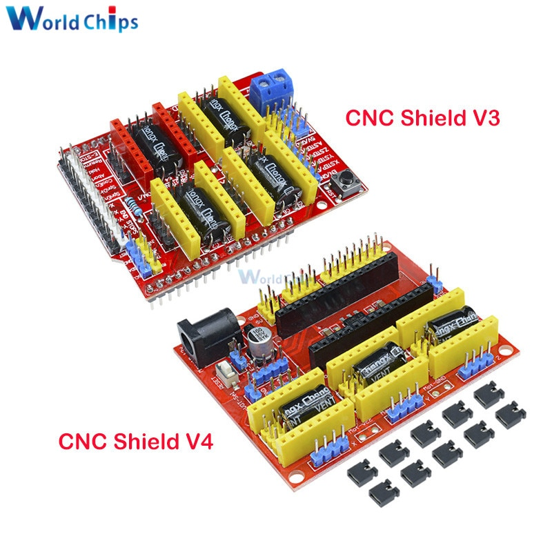 CNC bouclier V4 bouclier v3 V2 Machine de gravure/imprimante 3D/A4988 carte dextension de pilote pour arduino CNC bouclier V2/V3/V4 kit de bricolage