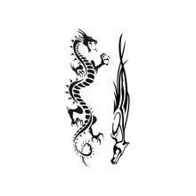 2017 nouveau tatouage temporaire de conception chaude pour adulte tatouage imperméable à leau autocollant corps Art chine Style Dragon faux tatouage pour homme