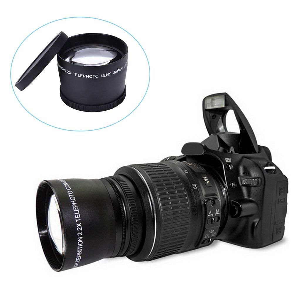 58mm 2,0 X Teleobjektiv + Reinigung Tuch für Canon Nikon Sony Pentax