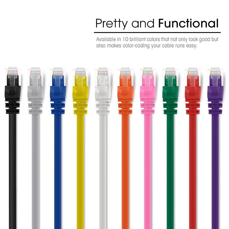 Ethernet сетевой патч-кабель 4 фута 125 см 550 мгц cat6 8P8C rj45 snagless lan провода кабели для компьютера voip принтер dvr