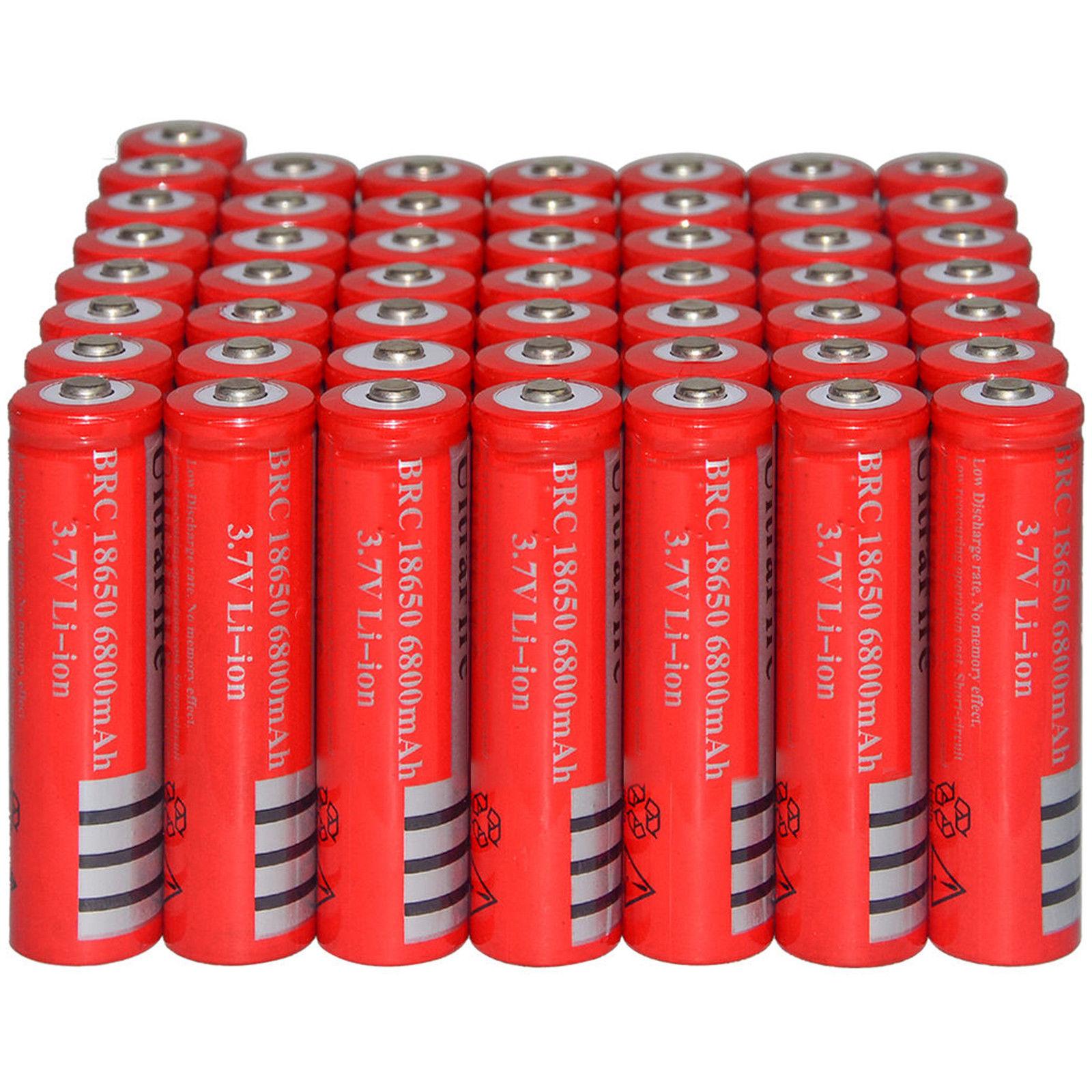1-10 шт 3,7 V 6800mAh 18650 аккумулятор литий-ионный аккумулятор для фонарика фонарь светодиодный bateria 18650 recargable pilas Cells