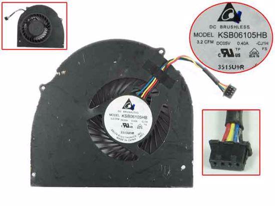 Delta Electronics KSB06105HB CJ1H DC 5V 0.40A 4-проводной Сервер вентилятор охлаждения ноутбука