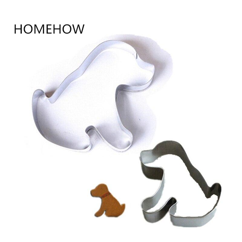 1PC serie Animal perrito cachorro perro galleta cortador de acero inoxidable en forma de moldeado fondant Cutter DIY herramientas de hornear