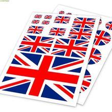 Autocollant de conception du drapeau anglais   Autocollant imperméable, en vinyle, sur la voiture, ordinateur portable et bicyclette, 2 modèles disponibles