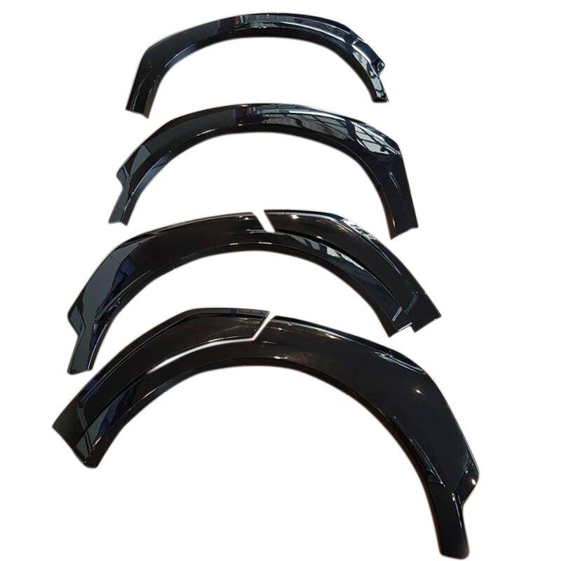 Accesorios de coche guardabarros de arco delantero y trasero sin pintar, Protector de CEJA con bengalas, cubierta embellecedora de 6 uds para Toyota C-HR CHR 2016-2018