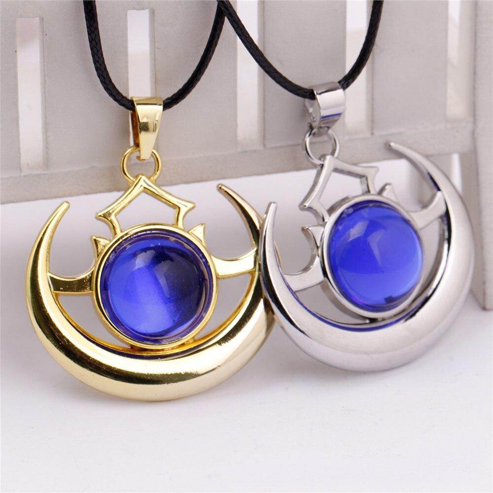 Atacado Dota 2 Hero adereços sombra pingente encanto arcano moda colar azul colar pedra para mulheres e homens de tamanho 4 * 4 cm