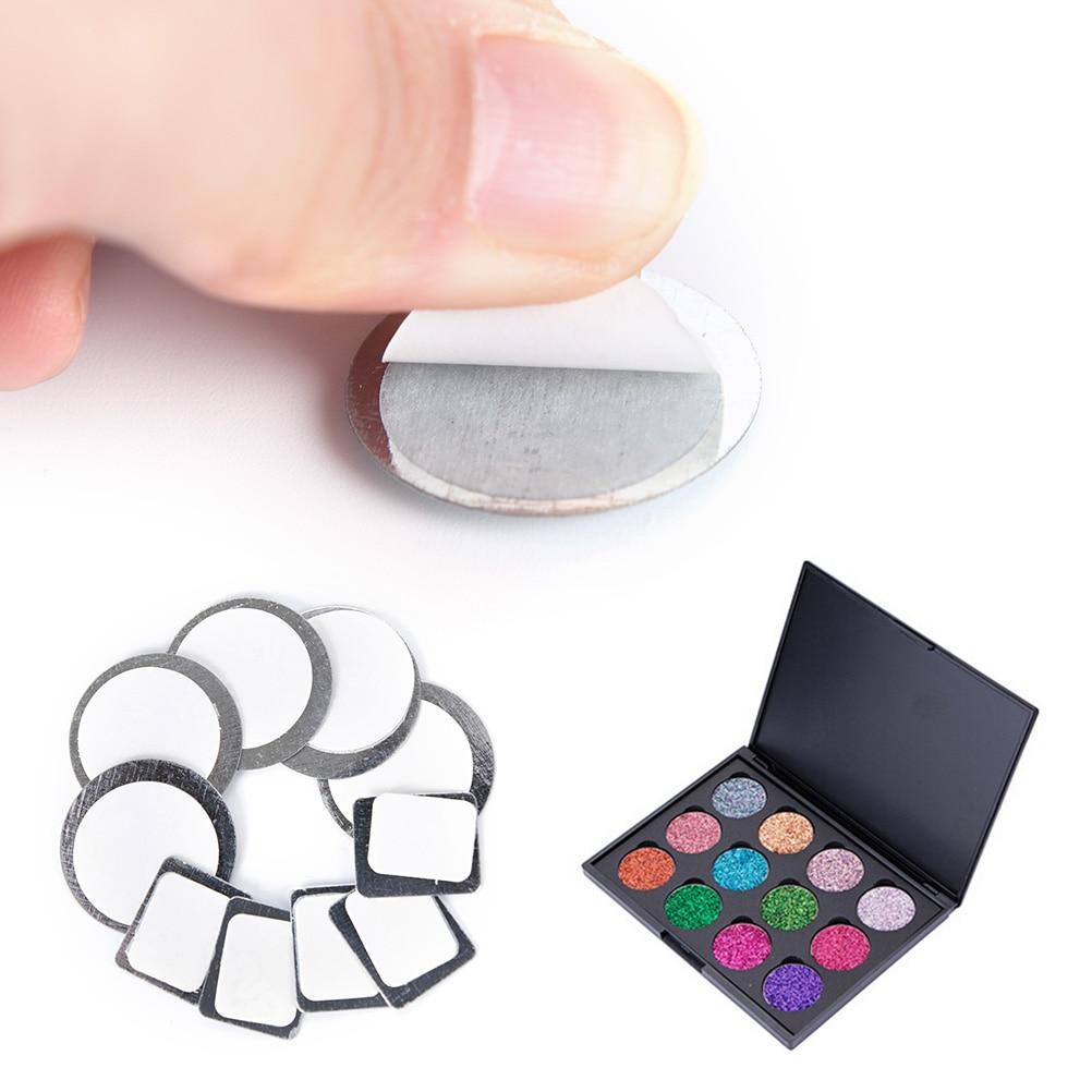 20X Runde Rechteck Magnet Lidschatten-palette Fest Metall Aufkleber Für Lidschatten Zu Halten