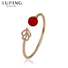 11,11 Xuping brazaletes en forma de corazón más joyería de perlas de imitación fiesta de Acción de Gracias regalos las mujeres las niñas S163.9-51763