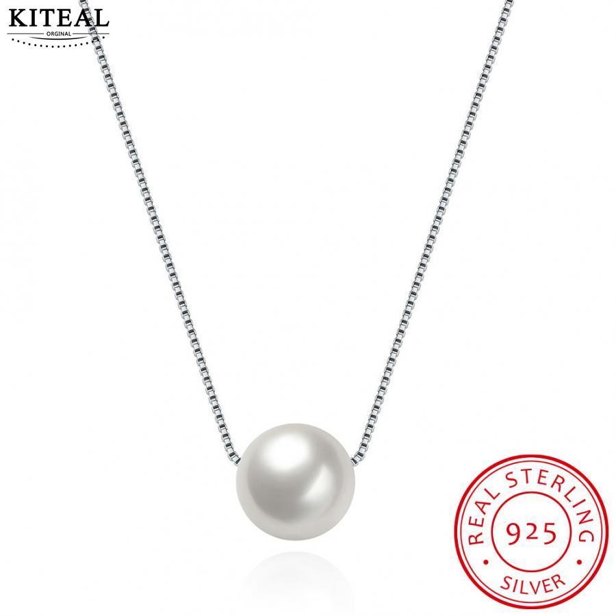 ¡Recién llegado! Collar gargantilla de Plata de Ley 925 pura Concha colgante de perlas cuentas para mujeres precios en euros
