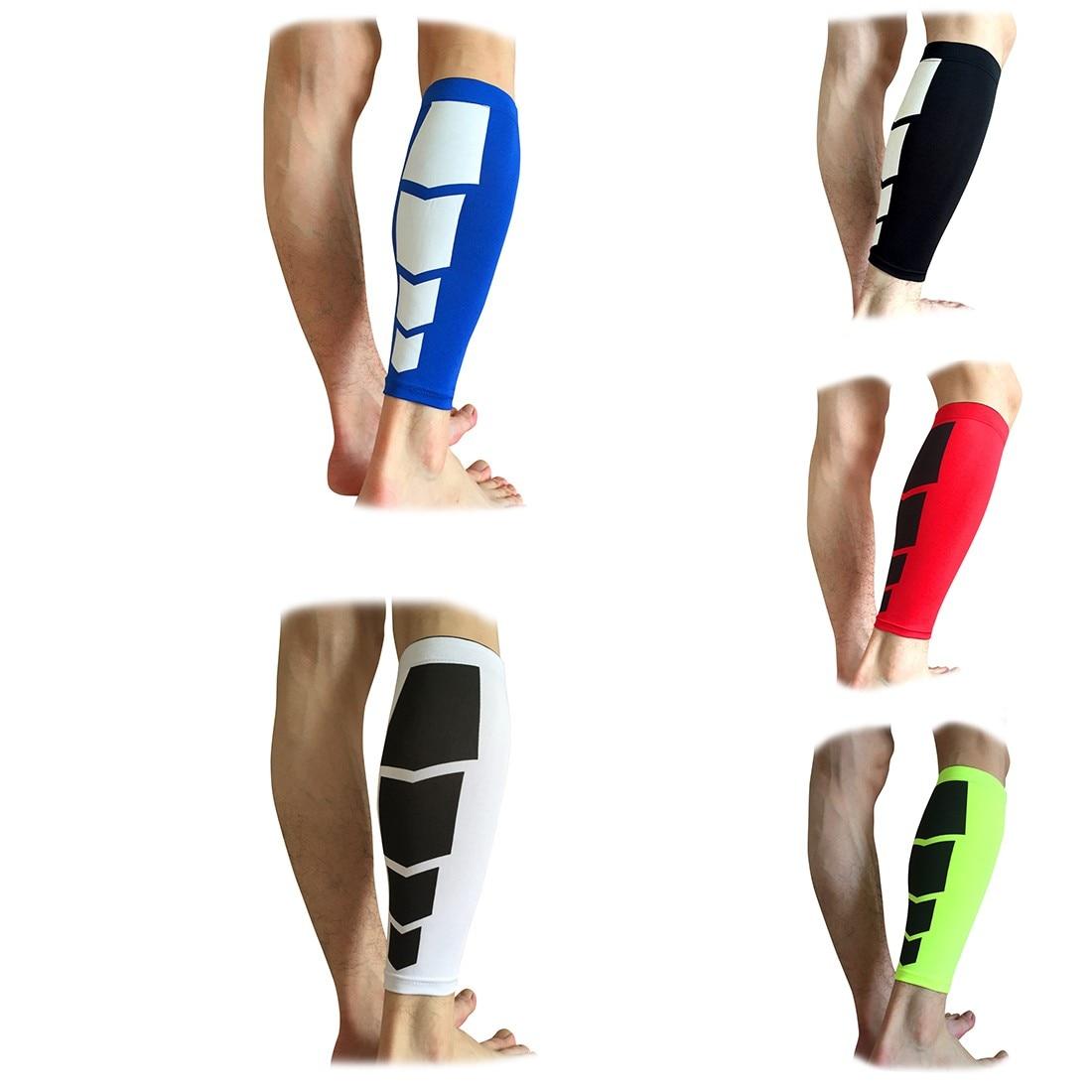 Homens 1 pc perna aquecedores de bezerro apoio shin guarda camada base compressão correndo polainas basquete mangas perna segurança