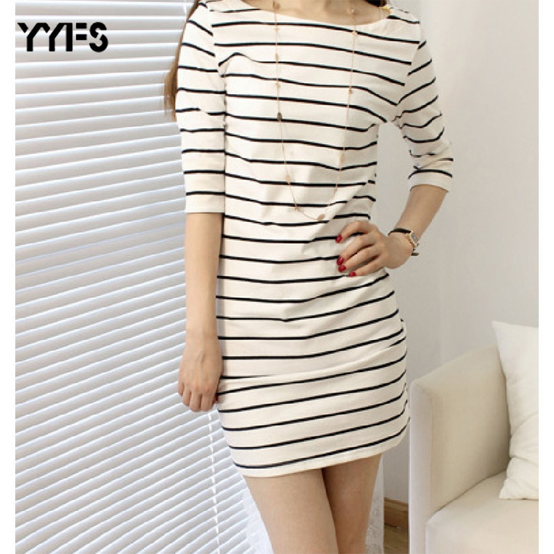 YYFS Summer Long T shirt women striped 2020 Tight t-shirt women Casual O-neck vintage tee shirt femme camisetas mujer 3XL