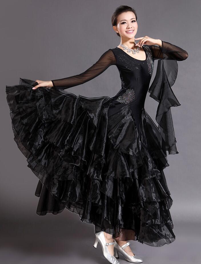 تنورة رقص عالية الجودة ، تنورة مسابقة جديدة ، فستان رقص ، تنورة تدريب