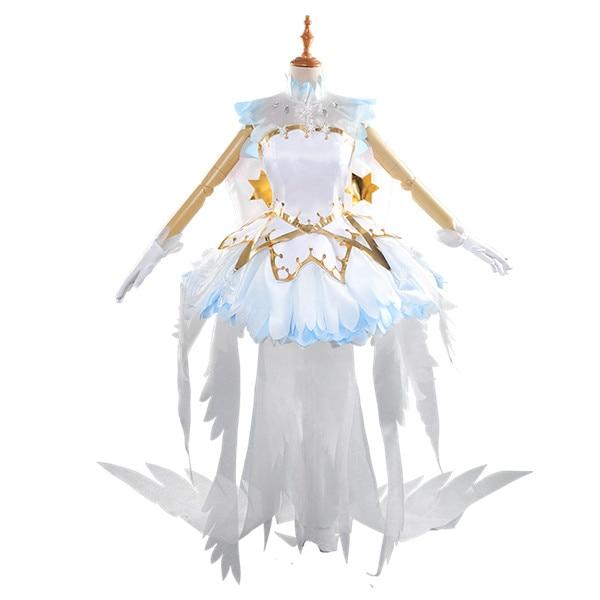 Anime Cosplay disfraz Mocha chica Sakura tarjeta transparente Cardcaptor vestido de Sakura estilo encantador juegos completos A