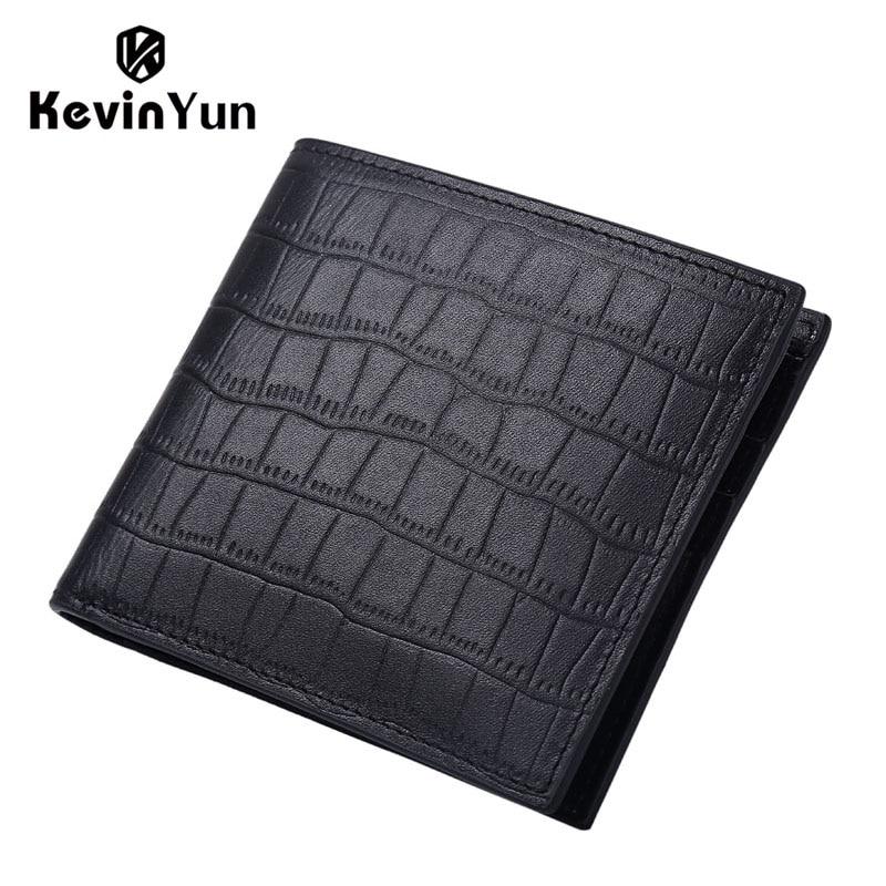 KEVIN YUN дизайнерский бренд, мужские кошельки из натуральной кожи, мужской короткий кошелек, держатель для карт