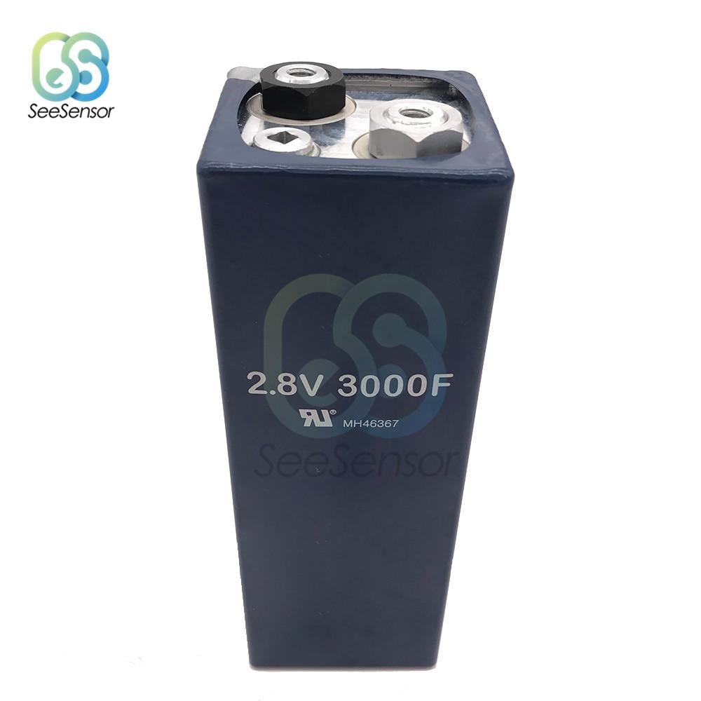 Farad condensador 2,8 V 3000F súper condensador Ultracapacitor automotriz baja ESR alta frecuencia automotriz fuente de alimentación