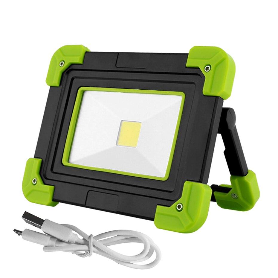 10W Led Portable Spotlight COB LED Flood Light USB LED Worklight Lamp Camping Lantern Flashlights for Outdoor Hunting Emergency
