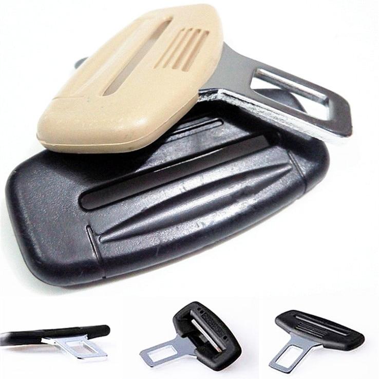 Arrive 4PCS/LOT Universal Metal Safety Car Seat Belt Buckles, High Quality Chrome Beige Black Car Safety Belt Plug