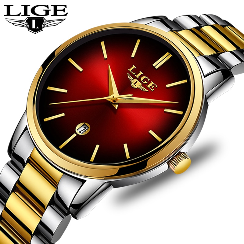 LIGE-reloj de cuarzo para mujer, reloj con esfera pequeña, reloj de lujo para mujer