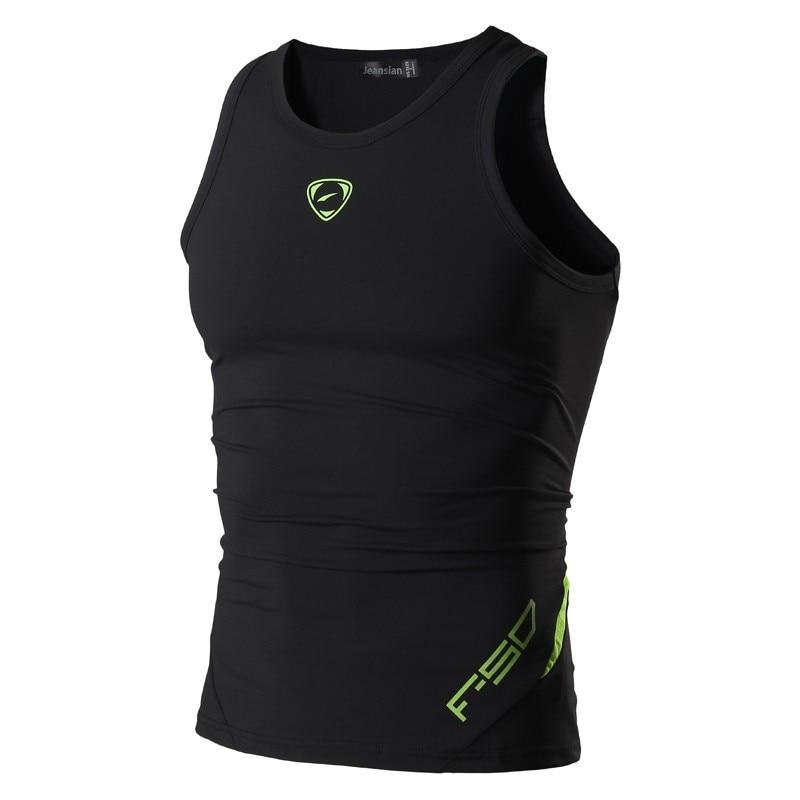 jeansian Sport Tank Tops Tanktops Sleeveless Shirts Running Grym Workout Fitness Slim Compression LSL3306