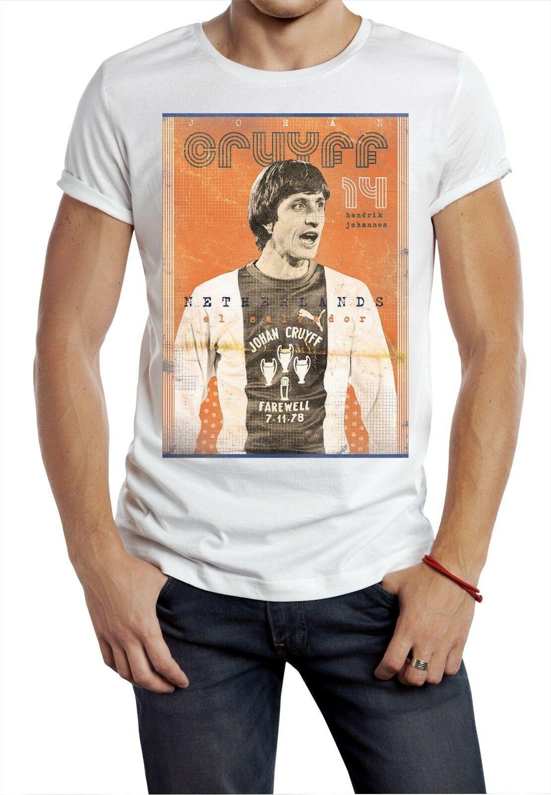 2019 divertida camiseta Cruyff holandés clásico 70 S 80 S maestro fútbol Tee Soccers Unisex