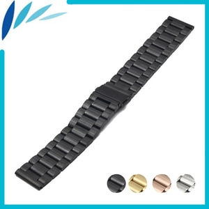 Stainless Steel Watch Band 22mm for Samsung Gear S3 Classic / Frontier Folding Clasp Strap Quick Release Loop Belt Bracelet