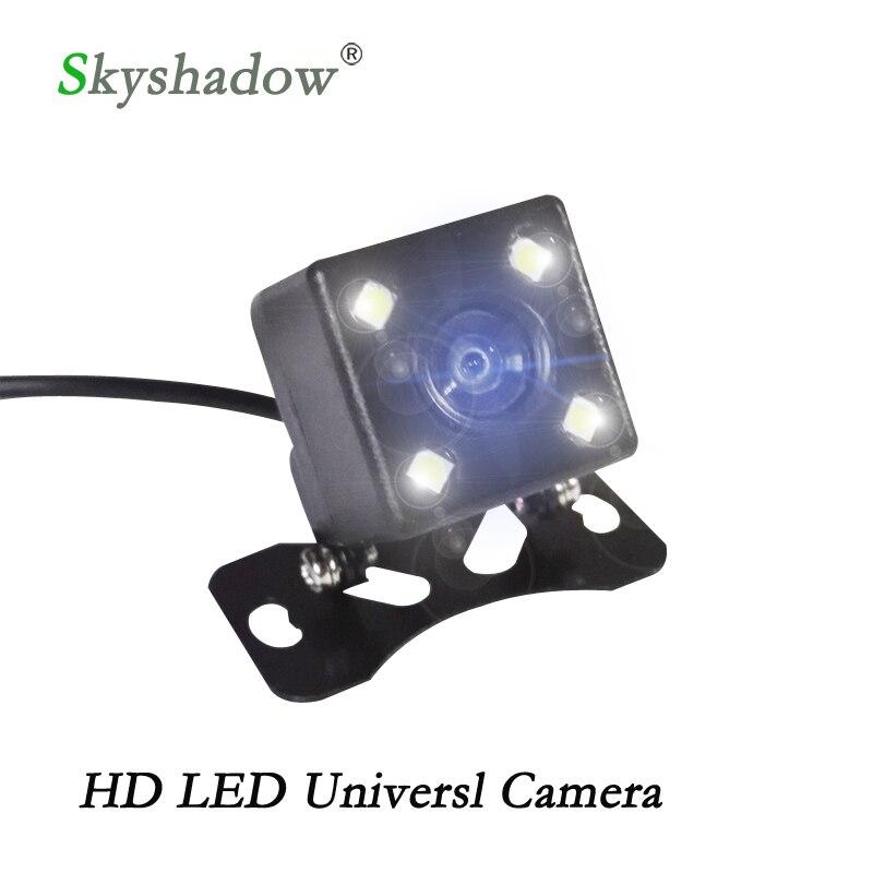 Cámara de visión trasera impermeable Universal asistencia de estacionamiento HD CCD 4 luces LED visión nocturna