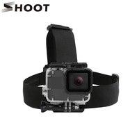 Комплект нагрудных ремней SHOOT Head, крепление для GoPro Hero 9, 8, 7, 5, Black, Xiaomi Yi 4K, Eken H9, Sjcam Sj4000, аксессуары для экшн-камеры Go Pro 8