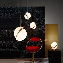 Chevet suspension moderne lampe suspendue goutte lumineuse cuisine Table à manger lampe nordique Luminaire boule Luminaire Lee balai