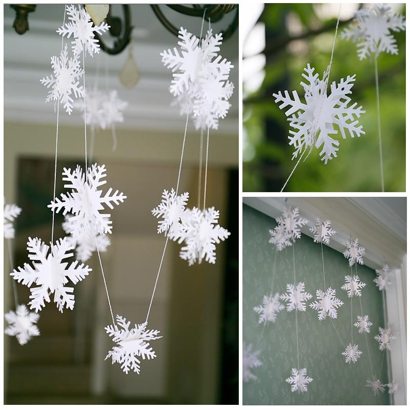 Flocons de neige de noël décoration blanche   Flocons de neige, décorations darbre de noël de vacances, décor de fête de Festival, décor de maison