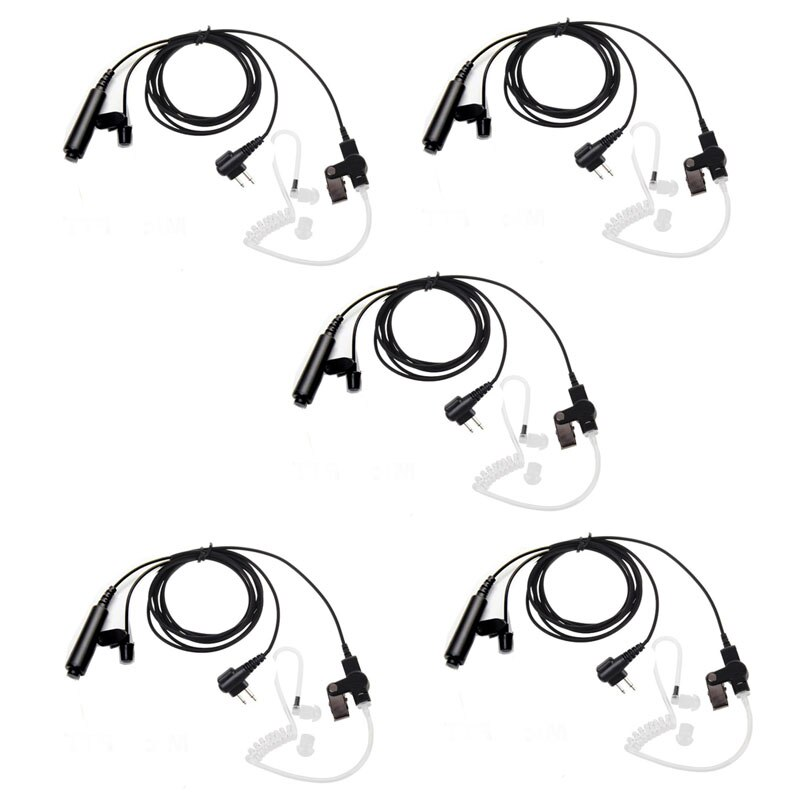 Lote 5 uds 3 cables Pro Covert tubo acústico auricular PTT micrófono para Motorola cls1110 cls1410 cls1413 cls1450 Radio