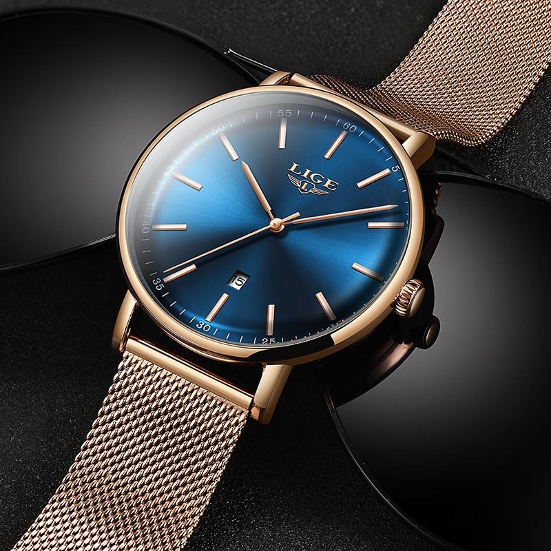 LIGE Women Watch Mens Watches Top Brand Luxury Zegarek Damski Watch Women Watch Men Montre Femme Montre Homme Reloj Hombre+Box enlarge